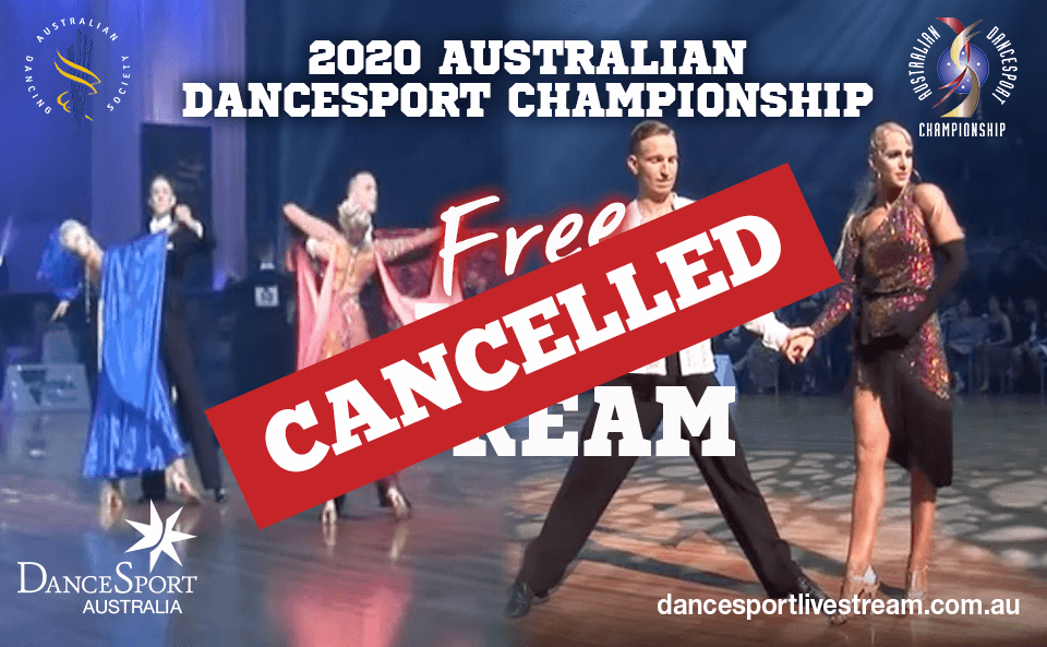 Live streaming Australian DanceSport Championship 2020 FREE cancelled